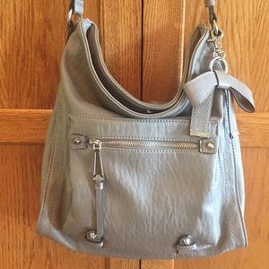 JESSICA SIMPSON TATIANA HOBO GRAY BAG